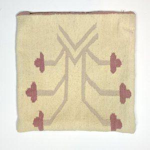 Vintage Kilim Rug Throw Pillow Cover Pink Purple